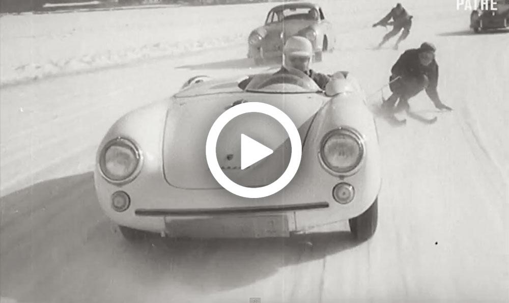 Video – Uit de oude doos: gevaarlijke sneeuwpret met Porsches