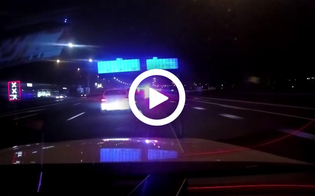 Video – Politie achtervolgt BMW 3 Serie op de A10
