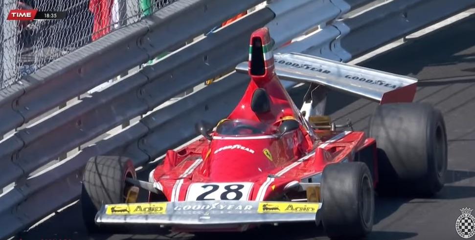 Video: René Arnoux rijdt peperdure Ferrari 312B3 aan barrels