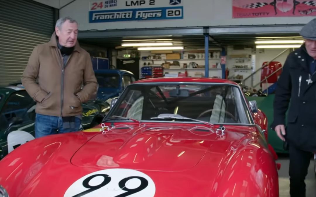 Video: oude muzikanten rijden in Ferrari 250 GTO