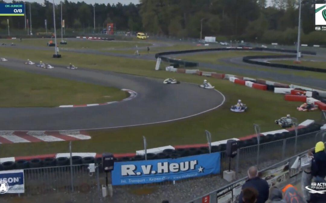 Video – Regen zorgt voor megacrash bij EK Karting
